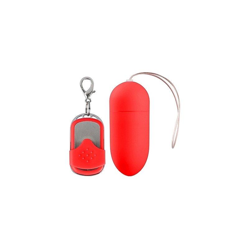 Huevo Vibrador 10 Velocidades Control Remoto Rojo Grande