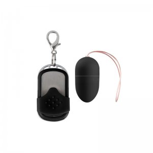 Huevo Vibrador Mediano 10 Velocidades Control Remoto Negro
